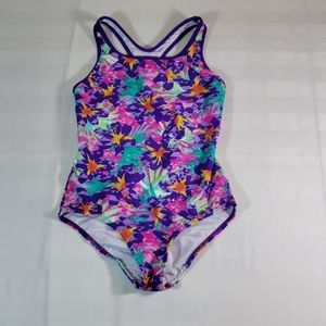 Speedo Girls Racerback Swimsuit Purple NWOT 12
